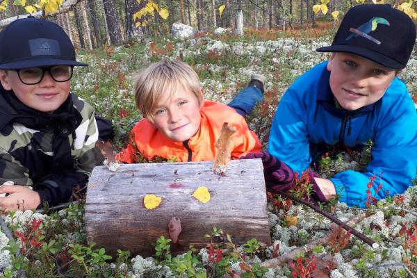 Barn lärde sig om skogsbrukets historia