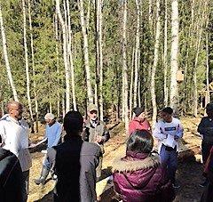 Lyckat integrationsprojekt i skolskogen i Dorotea