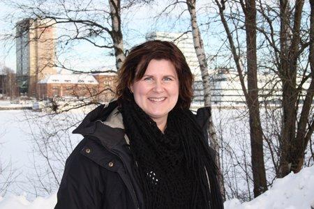 Erika Nilsson, samordnare för Skogen i Skolans Region Västerbotten
