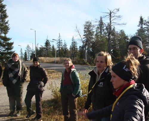 Madelein Nyman, Finska Forststyrelsen, håller workshop på den 13:e kongressen för europeisk utomhuspedagogik i Finland