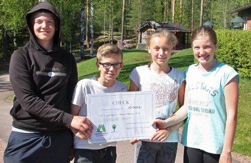 Sollerö skola vann första pris i Skogens Mästare 2018 i Region Dalarna-Gävleborg