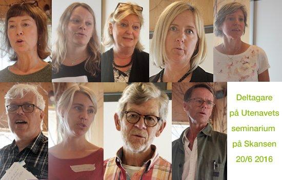 Deltagare på Utenavets seminarium på Skansen
