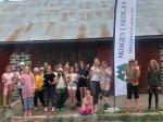 18 tjejer från Hudiksvallsområdet deltog på Region Dalarna-Gävleborgs dagkollo i Långvind