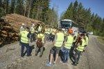 Nyanlända introduceras i skogssektorn av Stora Enso. Foto: Lasse Arvidson