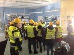 Studie- och yrkesvägledare på besök på Stora Enso Consumer Board Skoghall